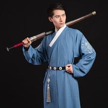 骐麟传统日常中国民族风刺绣直裰非古装 重回汉唐汉服夏装 春秋 男款