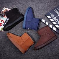 环球冬季雪地靴男情侣款韩版潮靴子东北棉鞋学生加绒防滑保暖短靴