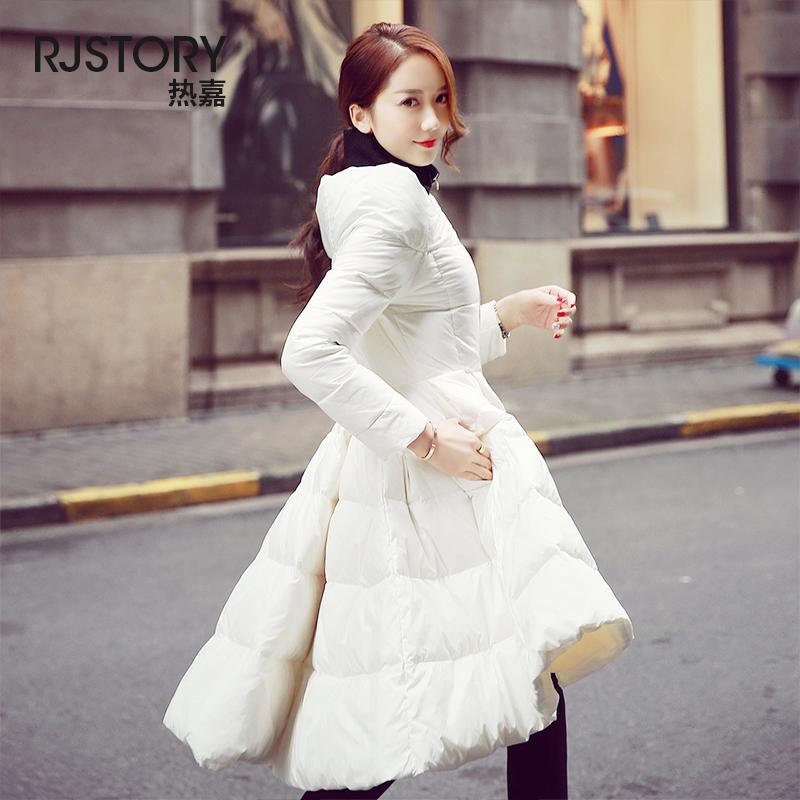 韩版裙羽绒服