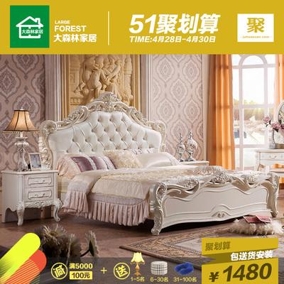 实木白色婚床网上专卖店