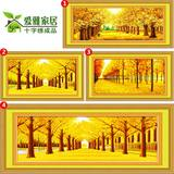 2 m Golden Cross Embroidery Finished Products Machine Embroidery Major New Cross Embroidery Living Room Series Landscape Painting Major Paintings