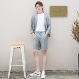 CSOCSO summer casual Korean wind net red rib less cloth small suit single West Tide men loose thin suit jacket men