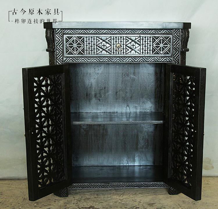摩洛哥风格实木餐边柜古今CB429-1东南亚风格泰式装饰柜玄关柜