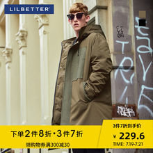 Lilbetter Down Garment Men's Mid-long Hat Winter Coat Warm and Thicker Coat Men's Down Garment Moisture