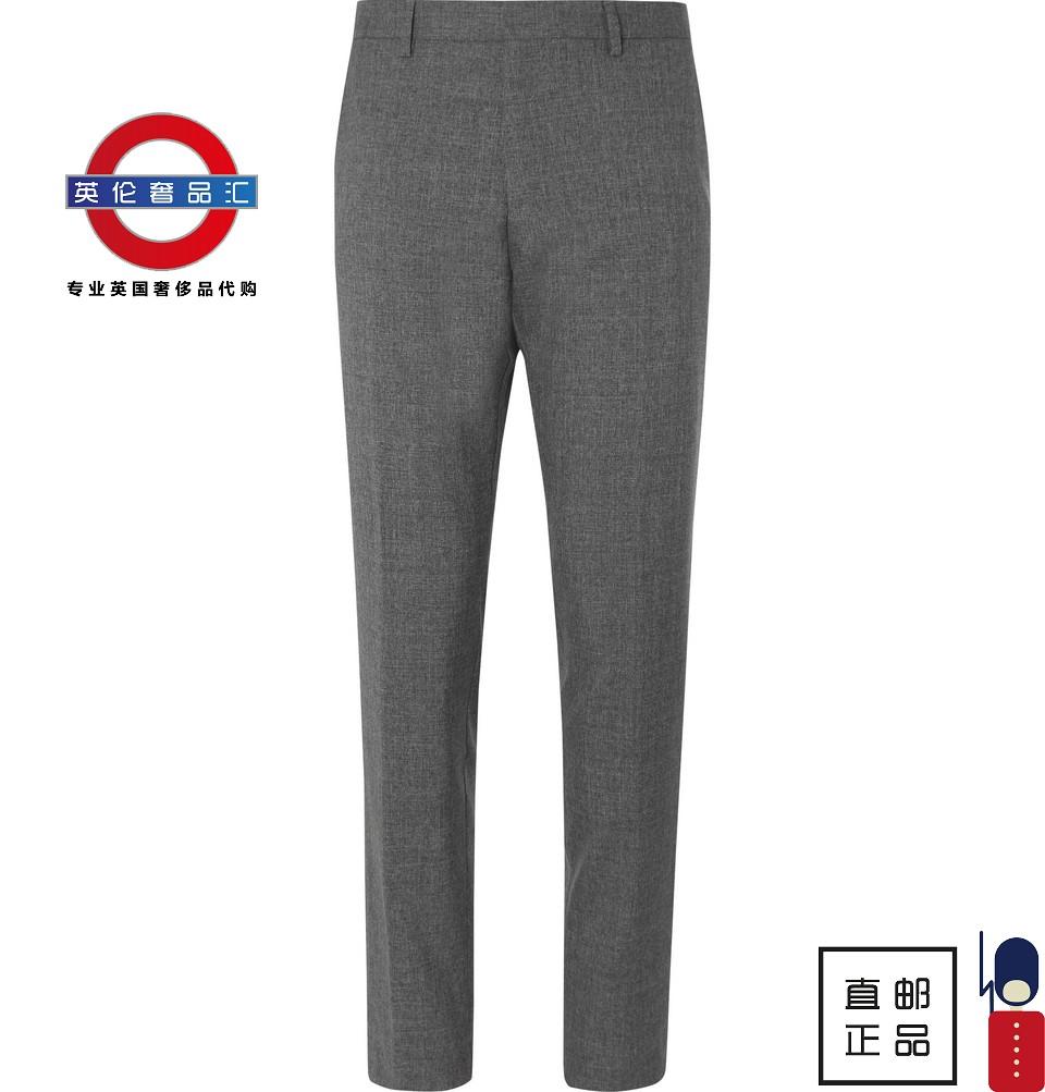 英伦代购 8男新款Hugo Boss 灰色羊毛西裤 伦敦包邮