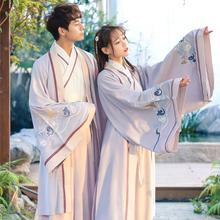 中国风学生公主改良曲裾 汉唐之梦原创汉服男日常重回古风cp情侣装