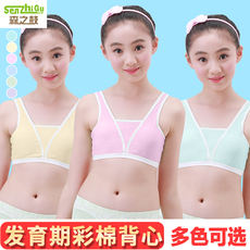 cd441a8c9f1a1 Girls cotton underwear small vest in the big children s tube top sling girl  development period bra