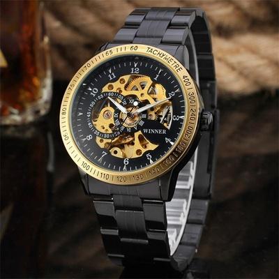 双面镂空机械表男士手表