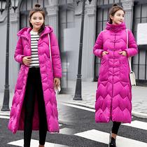 反季特价冬季新款羽绒棉服女大码中长款过膝修身棉衣加厚棉袄外套