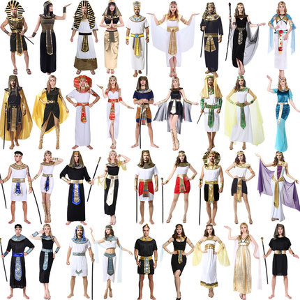 cosplay万圣节成人服装埃及法老艳后古希腊中东阿拉伯女长袍衣服