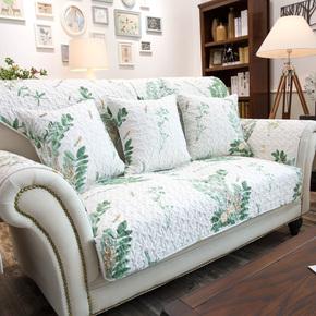 莫耐河 全棉布艺沙发垫美式乡村田园风四季防滑坐垫沙发巾可定做