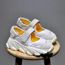 韩国2019夏季新款单鞋百搭女鞋厚底老爹鞋休闲运动凉鞋学生跑步鞋