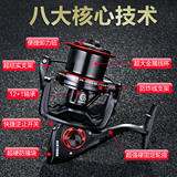 Diva 13 axis 8000-12000 seawater without gap fishing reel long shot round fishing line sea otter anchor fish fishing reel