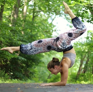 【推送新款】泰国Bohemian珍藏版白色曼陀罗瑜伽裤灯笼裤运动休闲