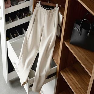 好舒服的萝卜裤!米色+深灰色!松紧腰 中高腰!质地很柔软休闲裤