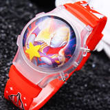 Altman Night Light Watch Kids Flash Light Electronic Watch Boy Cartoon Silicone Boy Baby Watch Parcel