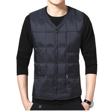 New middle-aged men's large size down vest vests down vest casual thick warm vest shoulders daddy