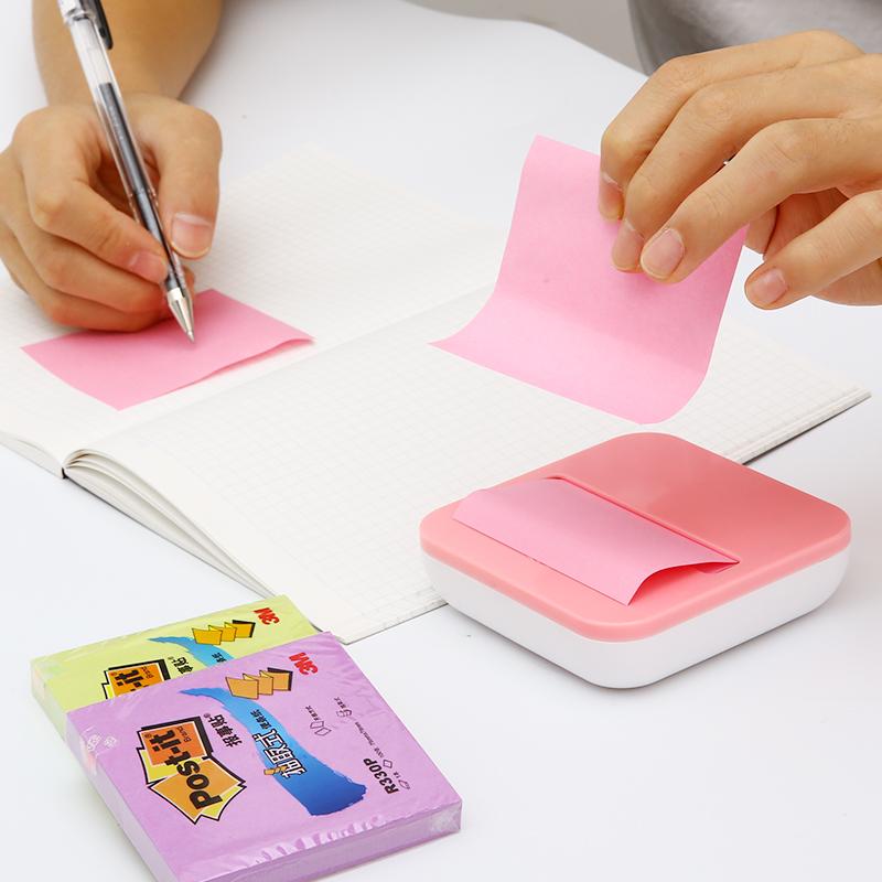 3M抽取式便利贴创意吸盘底座套装办公学生用便条纸粘性强n次贴记事便签小本子重点备忘录报事贴标签纸留言贴