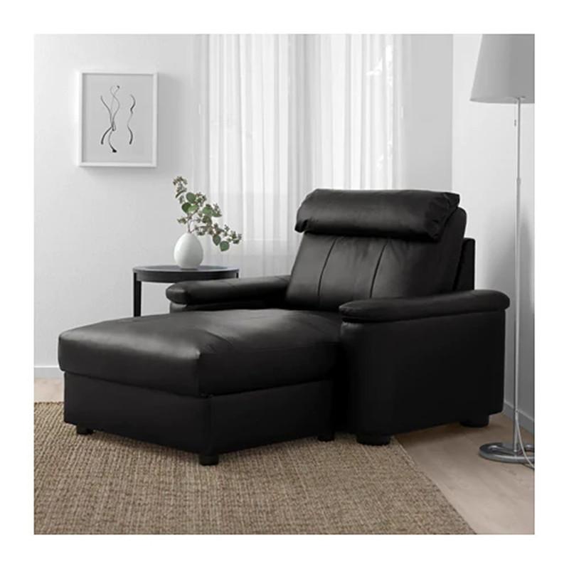 北欧宜家利胡特贵妃椅时尚简约真皮单人扶手美人榻沙发椅国内代购
