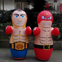 Children's inflatable tumbler toy Inflatable boxing column Fitness puzzle inflatable muscle man
