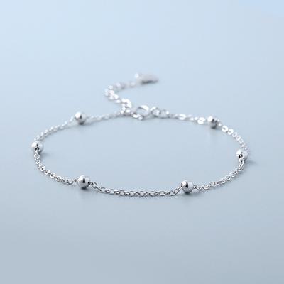 925纯银小圆珠手链chic冷淡风手链ins简约个性手镯气质少女显手白