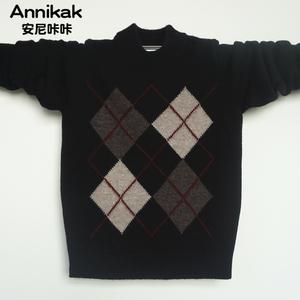 男童套头毛衣 秋冬新款儿童100%纯山羊绒衫中大童圆领童装针织衫