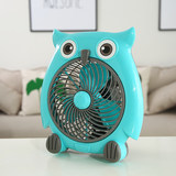 Cartoon electric fan fan student dormitory owl small fan head mini electric fan big wind plug