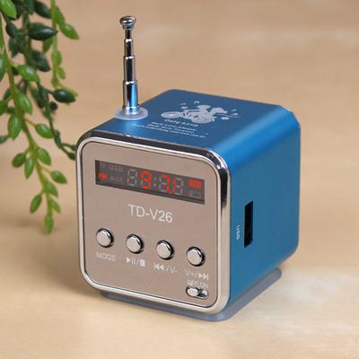 便携插卡音箱收音机U盘迷你音响 手机mp3外放小音箱播放器小钢炮.正品折扣