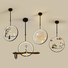 LED燈具燈飾 單頭童子中國風單吊燈創意中式個性 新中式禪意小吊燈