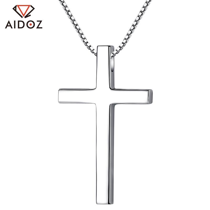 铂金十字架项链