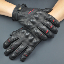 French LAFIRE knife-edge motorcycle gloves leather anti-fall gloves racing car riding touch screen perforation spring, summer and autumn man