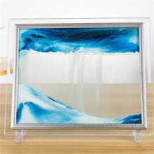 流沙画创意沙漏画3D玻璃画摆件家居装饰品办公桌面生日礼物送女生