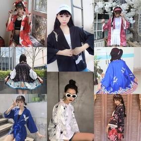 春夏原宿日式和服外套女日系古着和风日系软妹开衫学生外套防晒衣