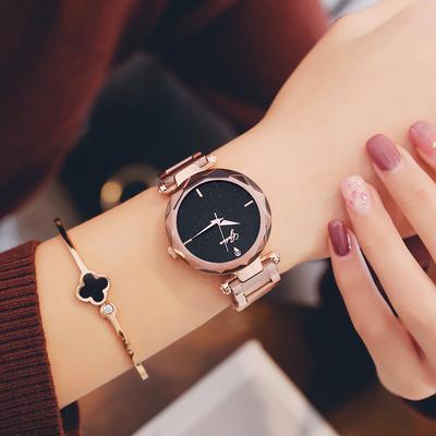 金钢带手表