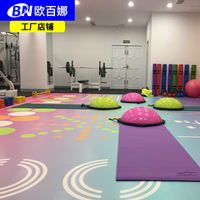 Ou Baina gym glue indoor functional sports floor 360 ground custom damping personal training mat