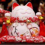 10 inch large flower season series to recruit cat ornaments ceramic decoration love wedding desk ornaments send girls