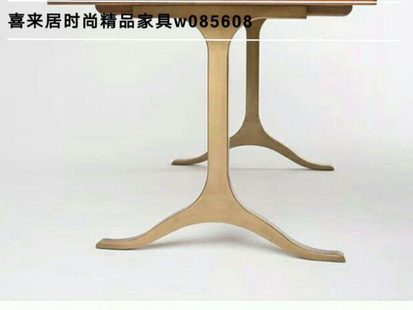 欧式大理石餐桌 长方形金属餐台 餐桌椅组合6人餐厅吃饭桌子家具