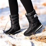 东北冬季热销平底保暖防滑防水百搭轻便雪地靴男靴情侣款女靴棉鞋