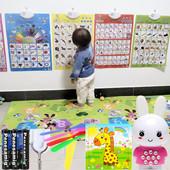 幼儿童早教玩具宝宝发声语音学习认字母看图识字认知拼音有声挂图
