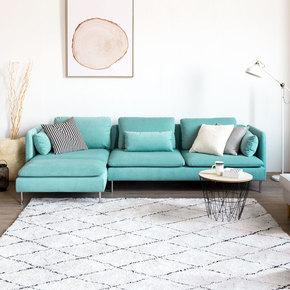 零号工厂简约现代北欧大户型大坐深转角组合布艺沙发客厅套装新品