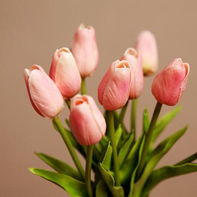 仿真花卉郁金香绢花干花室内假花工艺品客厅餐桌摆设装饰摆件插花