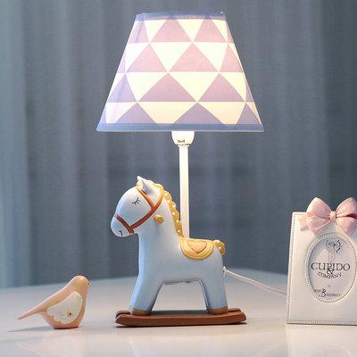 小马可调光LED台灯卧室床头灯 暖光温馨创意儿童房 可爱生日礼物排行