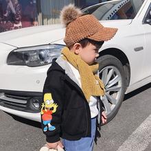 新款 韩版 潮男宝宝洋气上衣 LUSON 男童加绒加厚保暖外套2018冬装图片