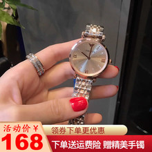 Ladies' watches, ladies' simple atmosphere 2018 new women's fashion trend steel strip ultra-thin waterproof quartz watch