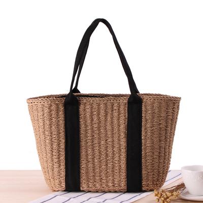 店长推荐日本简约风人气款ins草编包编织沙滩包百搭通勤沙滩包