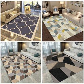 现代简约加厚欧式客厅沙发大地毯门垫茶几垫卧室机织地毯进门地垫
