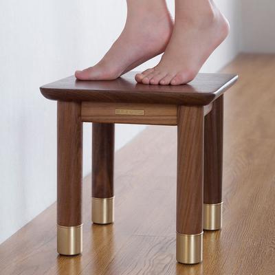 铜师傅铜木主义小板凳黑胡桃原木凳实木凳子儿童矮凳简约换鞋凳