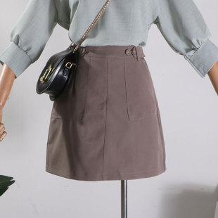 【包邮】D@19夏季新款时尚潮流简约纯色显瘦韩版半身裙女
