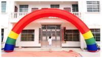 Celebration opening rainbow door wedding gold inflatable arch 6 m 8 m 10 m double dragon column arch air mold custom