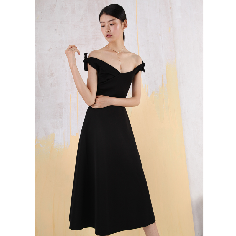ANYWill elegantly revealing off-the-shoulder dress dress dress